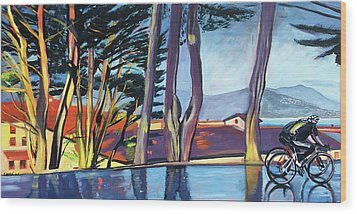 Fort Mason Bike Commute Wood Print by Colleen Proppe