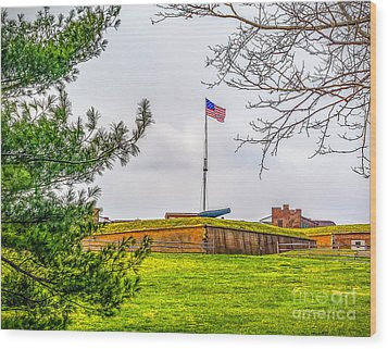 Wood Print featuring the photograph Fort Mchenry National Monument  by Nick Zelinsky