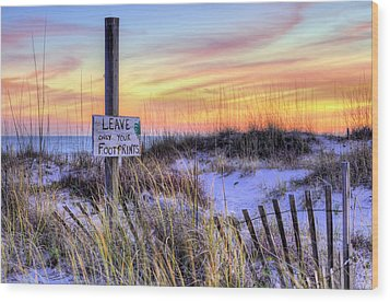Wood Print featuring the photograph Fort Morgan Sunsets by JC Findley