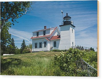 Fort Point Lighthouse  Stockton Springs Me 2  Wood Print