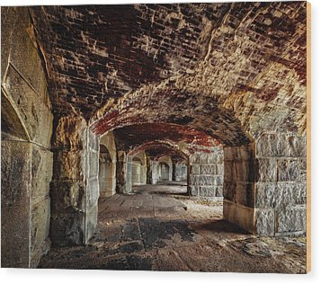 Fort Popham Wood Print