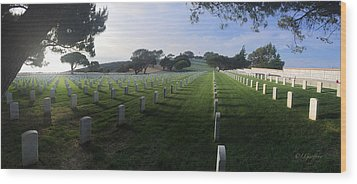 Wood Print featuring the photograph Fort Rosecrans National Cemetery by Lynn Geoffroy