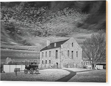 Wood Print featuring the photograph Fort Smith Historic Site by James Barber
