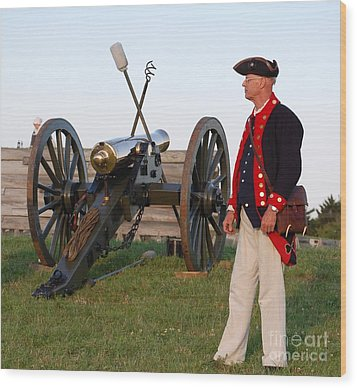 Fort Stanwix Cannon Ready Wood Print by Diane E Berry