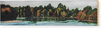 Fort Toulouse Coosa River Wood Print by Beth Parrish