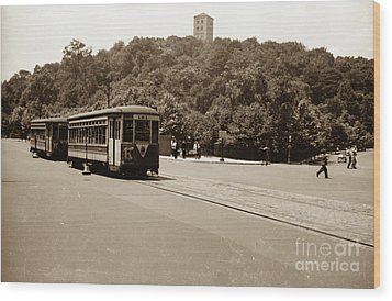 Fort Tryon Trolley Wood Print