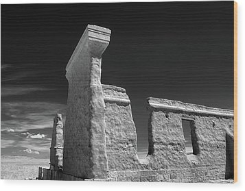 Fort Union Ruins Wood Print by James Barber