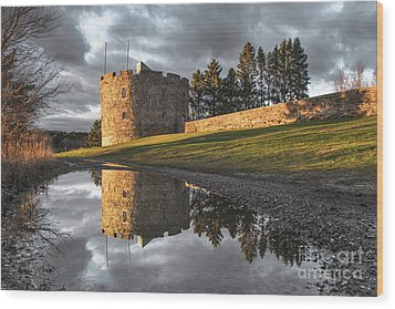 Fort William Henry Reflection Wood Print by Benjamin Williamson