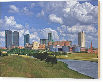 Fort Worth #1 Wood Print by David and Carol Kelly