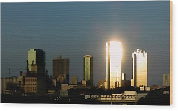 Fort Worth Gold Wood Print by Douglas Barnard