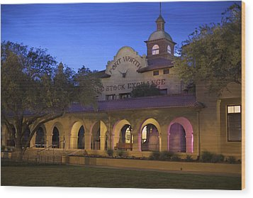 Fort Worth Livestock Exchange Wood Print