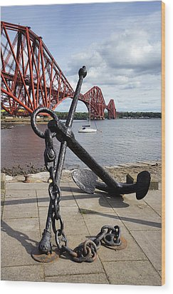 Wood Print featuring the photograph Forth Bridge by Jeremy Lavender Photography