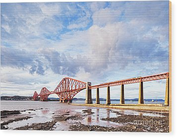 Wood Print featuring the photograph Forth Rail Bridge by Colin and Linda McKie