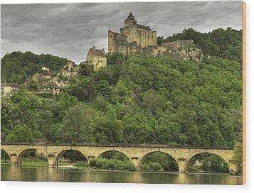 Fortified Castle Of Beynac In Dordogne France Wood Print by Arabesque Saraswathi