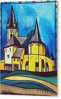 Fortified Medieval Church In Transylvania By Dora Hathazi Mendes Wood Print