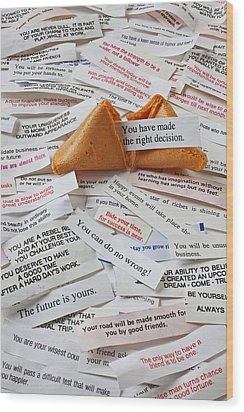 Fortune Cookie Sayings  Wood Print by Garry Gay