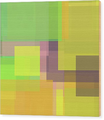 Forty -square- -composition- Wood Print by Coded Images