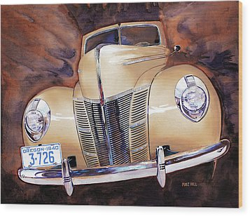 Forty Ford Wood Print by Mike Hill