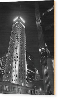 Wood Print featuring the photograph Foshay Tower, Minneapolis by Jim Hughes