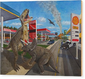 Fossil Fuel Wood Print