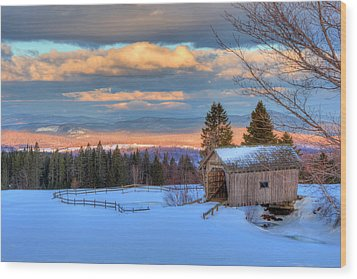Wood Print featuring the photograph Foster Covered Bridge - Cabot, Vermont by Joann Vitali