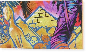 Found Graffiti 28 Cat Wood Print by Jera Sky