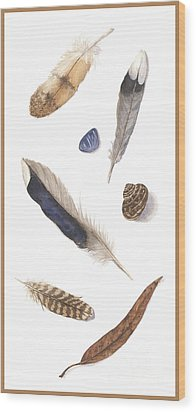 Found Treasures Wood Print by Lucy Arnold