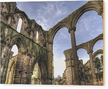 Fountains Abbey 5 Wood Print by Svetlana Sewell