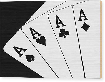 Four Aces I Wood Print by Tom Mc Nemar