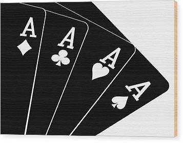 Four Aces II Wood Print by Tom Mc Nemar
