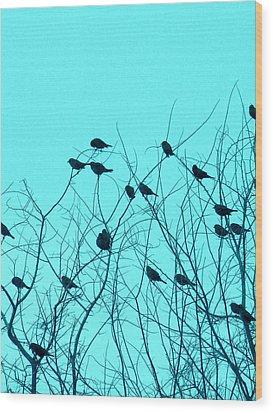 Four And Twenty Blackbirds Wood Print