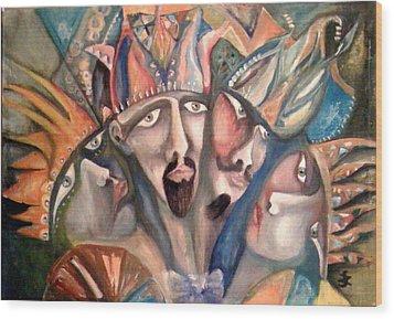Four Kings Wood Print by Gyorgy Szilagyi