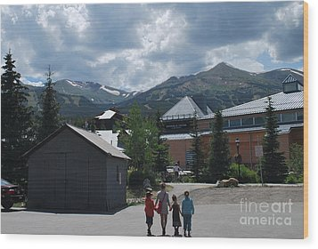 Four Little Children Safe In A Big Beautiful World Telluride Colorado Wood Print