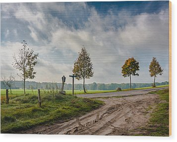 Four On The Crossroads Wood Print