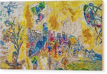 Four Seasons Chagall Wood Print