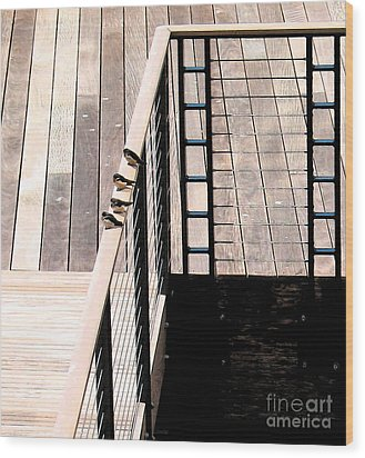 Four Swallows Wood Print by Gary Everson