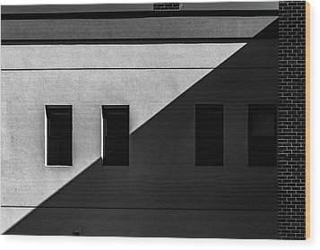 Wood Print featuring the photograph Four Windows by Bob Orsillo
