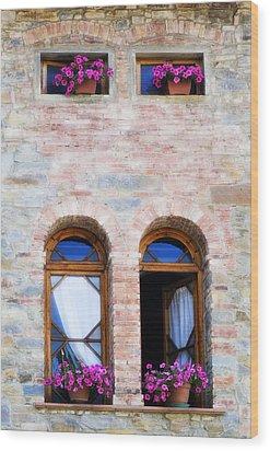 Four Windows Wood Print by Marilyn Hunt