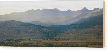 Fourmile Canyon Wildfire Front Range Wind View 09-09-10 Panorama Wood Print by James BO  Insogna