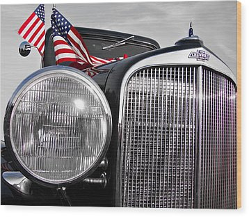 Fourth Of July-chevvy  Wood Print by Douglas Barnard