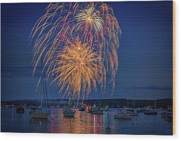 Wood Print featuring the photograph Fourth Of July In Boothbay Harbor by Rick Berk
