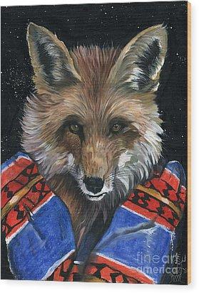 Fox Medicine Wood Print by J W Baker