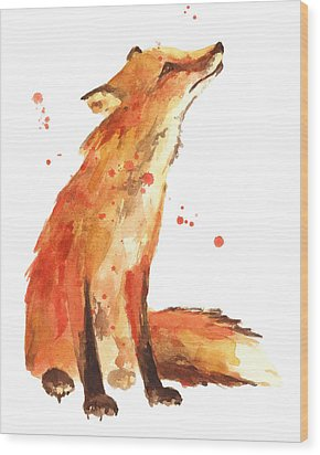 Fox Painting - Print From Original Wood Print