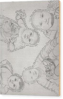 Fox Tale Wood Print by Gerard  Schneider Jr