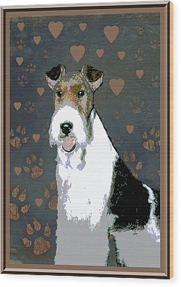 Fox Terrier Wire Wood Print by One Rude Dawg Orcutt