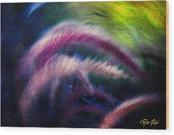 Wood Print featuring the photograph Foxtails In Shadows by Rikk Flohr