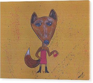 Foxxxy Wood Print