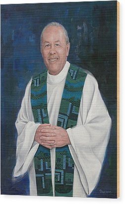 Fr. Larry Olszewski Wood Print by Richard Barone