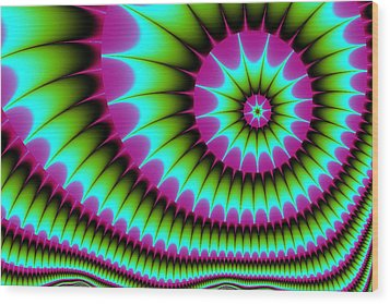 Wood Print featuring the digital art Fractal  167 by Charmaine Zoe