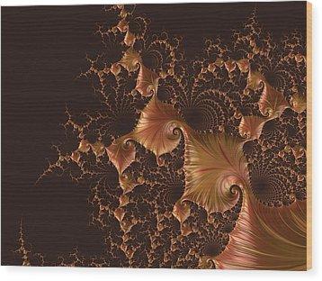 Fractal Alchemy Wood Print by Susan Maxwell Schmidt